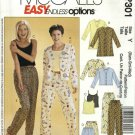 McCall's Sewing Pattern P301 474 3856 Misses Size 4-14 Easy Pajamas Top Camisole Shorts Pants