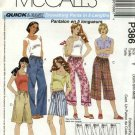 McCall's Sewing Pattern 386 Misses Size 4-14 Easy Drawstring Cropped Pants Capris Shorts Bermudas