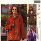 McCall's Sewing Pattern 471 3788 Misses Size 4-14 Fleece Button Front Embroidered Jacket Hat Scarf