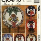 McCall's Sewing Pattern 746 5847 M5847 Holiday Wreaths Christmas Easter Thanksgiving Valentines