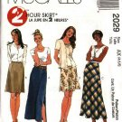 McCall's Sewing Pattern 2029 Misses Size 4-6-8 Two-Hour A-line Fitted Bias Long Short Skirts
