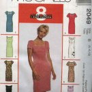 McCall's Sewing Pattern 2049 Misses Size 8-10-12 Easy Straight Sheath Sleeveless Short Sleeve Dress