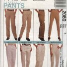 McCall's Sewing Pattern 2080 Misses Size 12 Relaxed Classic Cargo Slim Fit Pants Slacks Trousers