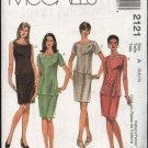 McCall's Sewing Pattern 2121 Misses Size 6-10 Fitted Straight Skirt Fitted Top Tunic Two Piece Dress