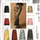 McCall's Sewing Pattern 2129 Misses Size 4-6-8 Fitted A-Line Short Long Overlayed Skirts