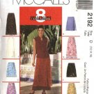 McCall's Sewing Pattern 2192 Misses Size 16-18-20 Easy Wrap Front Fitted Short Long A-Line Skirts