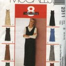 McCall's Sewing Pattern 2311 Misses Size 10-14 Easy Short Long A-Line Dress Jumper