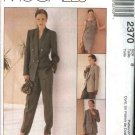 McCall's Sewing Pattern 2370 Misses Size 10 Wardrobe Lined Jacket Top Straight Skirt Long Pants