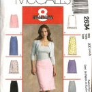 McCall's Sewing Pattern 2634 Misses Size 4-6-8 Easy Short Long A-Line Skirts Flounes Ruffles