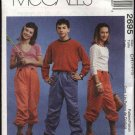 McCall's Sewing Pattern 2695 Boys Girls Size 7-8-10 Pull On Drawstring Waist Roll-up Long Pants