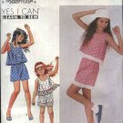Simplicity Sewing Pattern 7300 Girls Size 7-14 Easy Summer Pull-on Shorts Pullover Sleeveless Tops