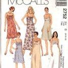 McCall's Sewing Pattern 2752 Misses Size 8-12 Basic Raised Waist Summer Short Long Dress
