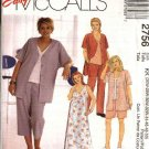 McCall's Sewing Pattern 2756 Womans Plus Size 18W-24W Easy Wardrobe Jacket Dress Pants Top