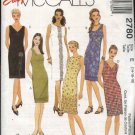 McCall's Sewing Pattern 2780  Misses Size 14-18 Easy Summer Sleeveless Straight Dress
