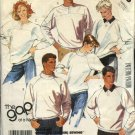 "McCall's Sewing Pattern 2793 Misses Mens Unisex Chest Size 32 1/2 - 34""  Knit Tops Sweatshirts"