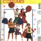 McCall's Sewing Pattern 2849 M2849 Girls Size 7 Cheerleaders Outfits Pleated Skirt Tops Panties