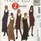 McCall's Sewing Pattern 2866 Misses Size 10-12-14 Two Hour Long Short Straight Jumper