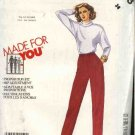 McCall's Sewing Pattern 2893 Misses Size 16 Pull on Long Pants for Tall Average Short Heights