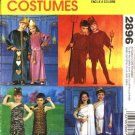"McCall's Sewing Pattern 2896 Boys Girls Chest Sizes 22-27"" Halloween Costumes Cave People Devils"