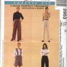 McCall&#39;s Sewing Pattern 2953 Misses Size 8 Classic Fit Long Pleated Pants Shorts Fitting Shell