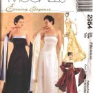 McCall's Sewing Pattern 2954 Misses Size 6-8-10 Formal Evening Prom Strapless Dress Gown Shawl
