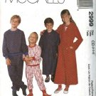 McCall's Sewing Pattern 2999 Boys Girls Size 2-4 Wrap Front Robe Pajamas Pullover Top Pull on Pants