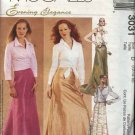 McCall's Sewing Pattern 3031 Misses Size 6-10 Evening Formal Prom Long Skirt Train Wrap Blouse