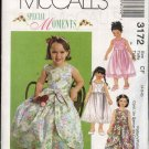 McCall's Sewing Pattern 3172 Girls Size 4-6 Special Moments Sleeveless Full Skirt Overskirt Dress