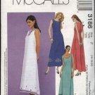 McCall's Sewing Pattern 3186 Misses Size 16-20 Sleeveless Long Dress Trim Hem Variations