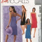 McCall's Sewing Pattern 3239 Misses Size 12-18 Easy Short Straight Summer Pullover Dress Sundress