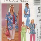 McCall's Sewing Pattern 3246 Womans Plus Size 18W-24W Wardrobe Shirt Top Pants Capri