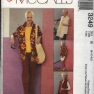 McCall's Sewing Pattern 3249 Misses Size 8-12 Easy Wardrobe Button Front Shirt Top Pants Shorts