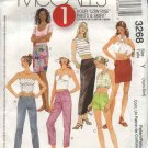 McCall's Sewing Pattern 3268 Misses Size 4-10 Low Rise Knit Pants Shorts Long Short Straight Skirts
