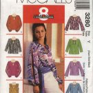 McCall's Sewing Pattern 3280 M3280 Misses Size 4-14 Easy Pullover Long Sleeve Tops