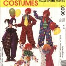 "McCall's Sewing Pattern 3306 M3306 6142 Misses Mens Chest Size 34-36"" Jumpsuit Clown Costumes Hats"