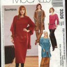 McCall's Sewing Pattern 3325 Womans Plus Size 18W-24W Wardrobe Pullover Top Pants Skirt Shawl