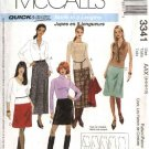 McCall's Sewing Pattern 3341 Misses Size 4-10 Easy Short Long Mini Fitted A-Line Skirts