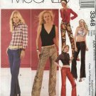 McCall's Sewing Pattern 3348 M3348 Misses Size 4-10 Fitted Low Rise Long  Pants