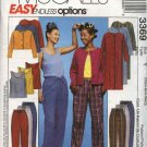 McCall's Sewing Pattern 3369 Misses Size 12-22 Easy Loungewear Wardrobe Duster Jacket Top Pants