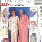 McCall's Sewing Pattern 3370 Misses Size 4-14 Easy Sleepwear Wardrobe Pajamas Robe Tunic