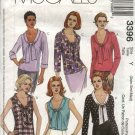 McCall's Sewing Pattern 3396 Misses Size 4-14 Sleeveless Long Sleeve Bow Tie Blouses Tops