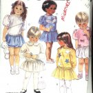 McCall's Sewing Pattern 3453 Girls  Size 1-2-3 Easy Pullover Short Long Sleeve Dress
