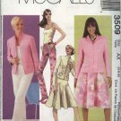 McCall's Sewing Pattern 3509 Misses Size 4-8 Wardrobe Jacket Top Pants Skirt