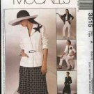 McCall's Sewing Pattern 3515 Misses Size 12-16 Wardrobe Lined Jacket Bias Skirt Long Pants