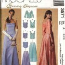McCall's Sewing Pattern 3571 Misses Size 16-20 Evening Formal Prom Top Long Flared Skirt Bustier