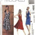 McCall's Sewing Pattern 3584 Misses Size 4-6-8-10 Halter Straight Flared Skirt Summer Dress Sundress