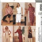 McCall's Sewing Pattern 3589 Misses Size 6-10 Wardrobe Duster Dress Capri Pants Shirts