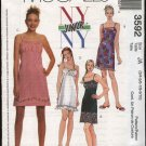 McCall's Sewing Pattern 3592 Junior Size 11/12-17/18 NYNY Slip Raised Waist Empire Dress Sundress