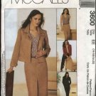McCall's Sewing Pattern 3600 Misses Size 6-12 Wardrobe Unlined jacket Top Shell Skirt Pants