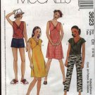 McCall's Sewing Pattern 3623 Girls Size 7-8-10 Wardrobe Dress Top Pants Shorts